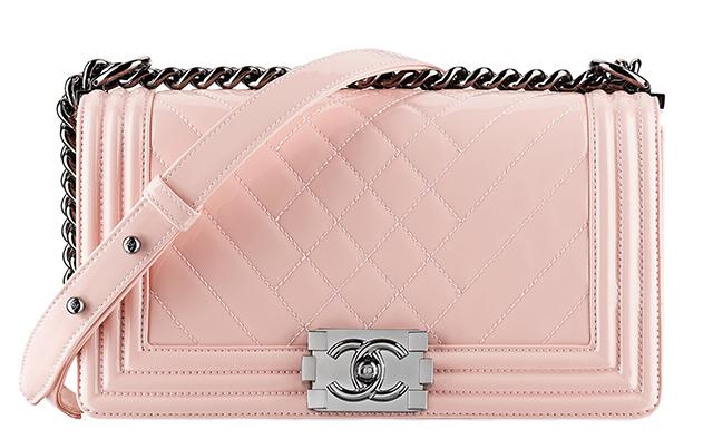 Chanel Patent Boy Bag Pink