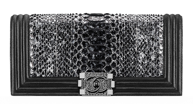 Chanel Python Boy Flap Clutch