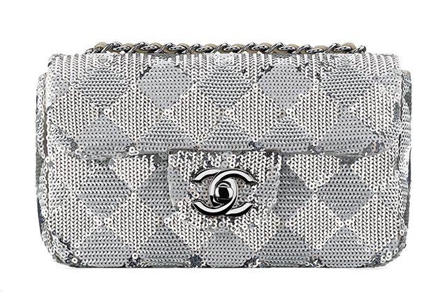Chanel Small Check Sequin Flap Bag