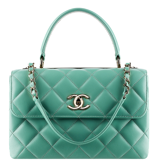 Chanel Small Flap Satchel Green