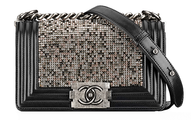 Chanel Strass Boy Bag Black