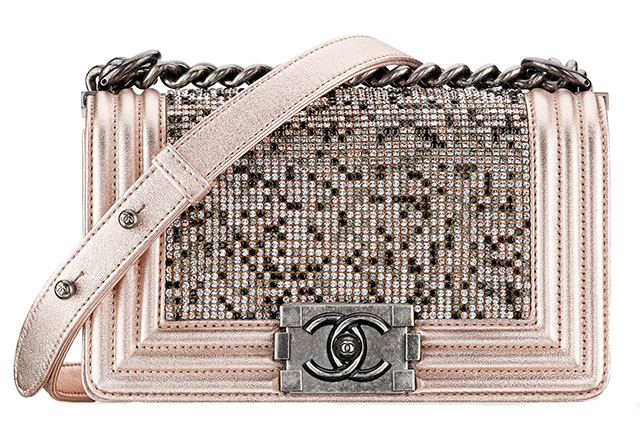 Chanel Strass Boy Bag Pink