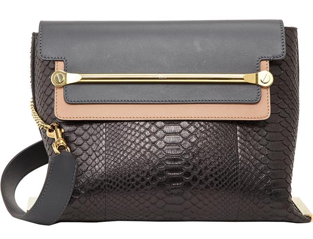 Chloe Clare Medium Python Shoulder Bag