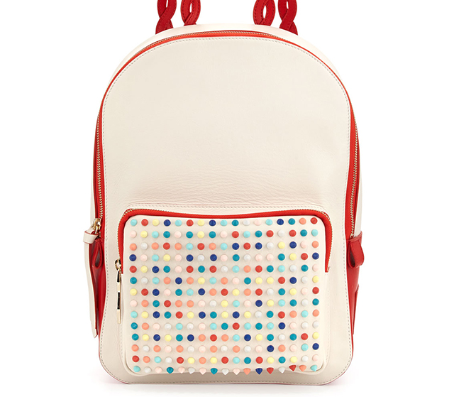 Christian Louboutin Valou Spiked Calfskin Backpack