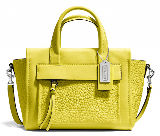 Coach Bleecker Mini Pocket Carryall Acid Green