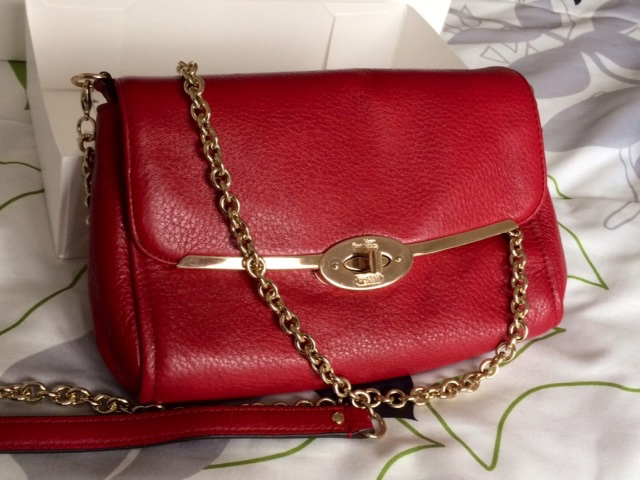 Coach Red Shoulder Bag