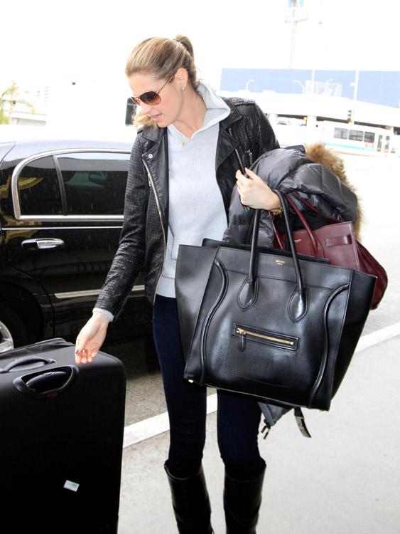 Erin Andrews Celine Luggage Tote Saint Laurent Sac de Hour Bag-1