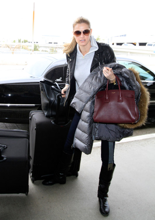 Erin Andrews Celine Luggage Tote Saint Laurent Sac de Hour Bag-2