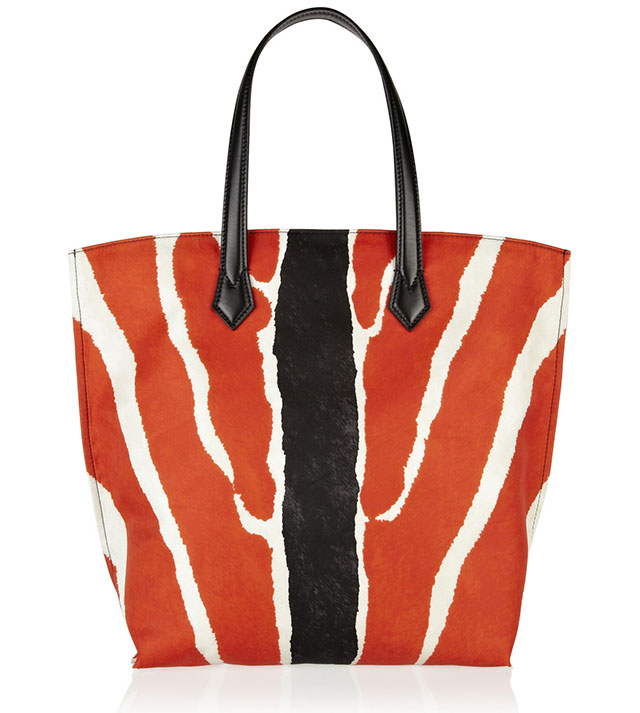 Fendi All In Zebra Print Nylon Tote