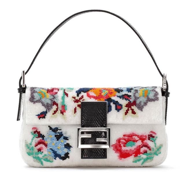 Fendi Baguette Floral Needlepoint Bag