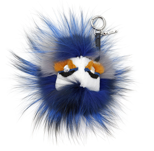 Fendi Crystal Eyed Fur Monster Handbag Charm
