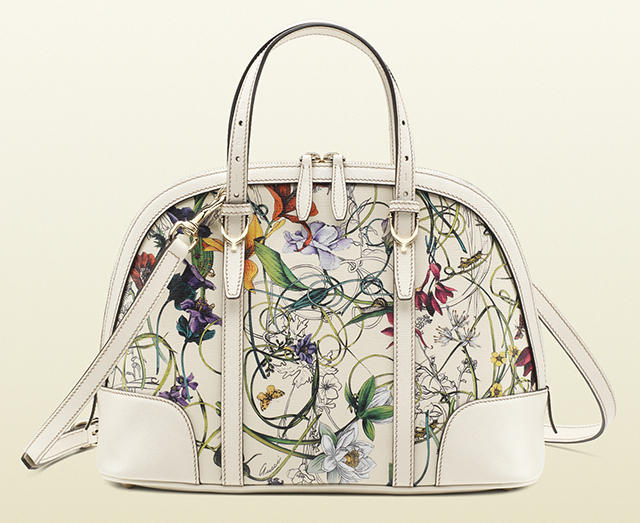 Gucci Nice Floral Leather Top Handle Bag