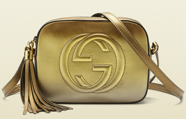 Gucci Soho Disco Gold Bag