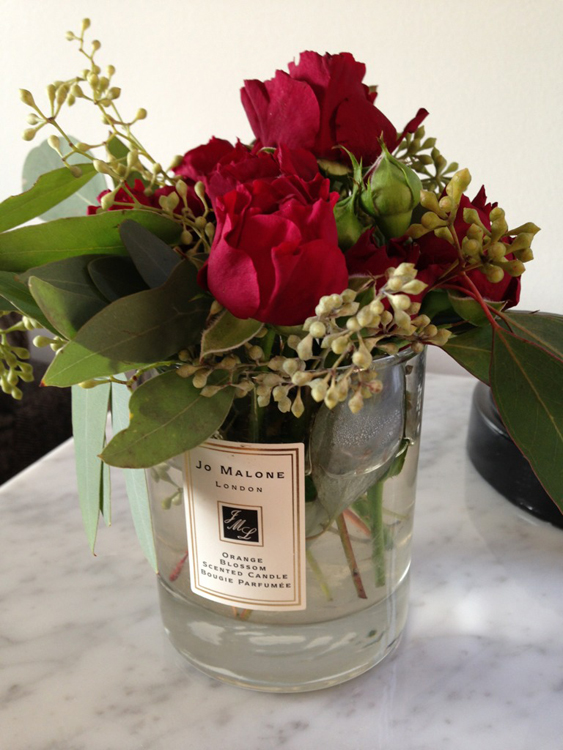 Jo Malone Candle Flower Arrangement