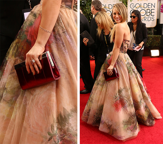 Kaley Cuoco Jimmy Choo Frame Clutch