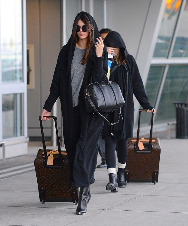 Kendall and Kylie Jenner Givenchy Lucrezia Louis Vuitton Pegase Suitcases-1