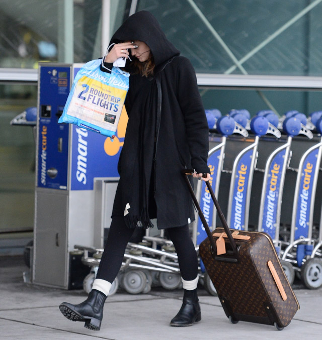 Kendall and Kylie Jenner Givenchy Lucrezia Louis Vuitton Pegase Suitcases-3