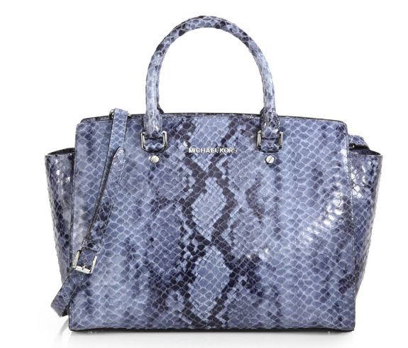 MICHAEL Michael Kors Selma Python Embossed Bag