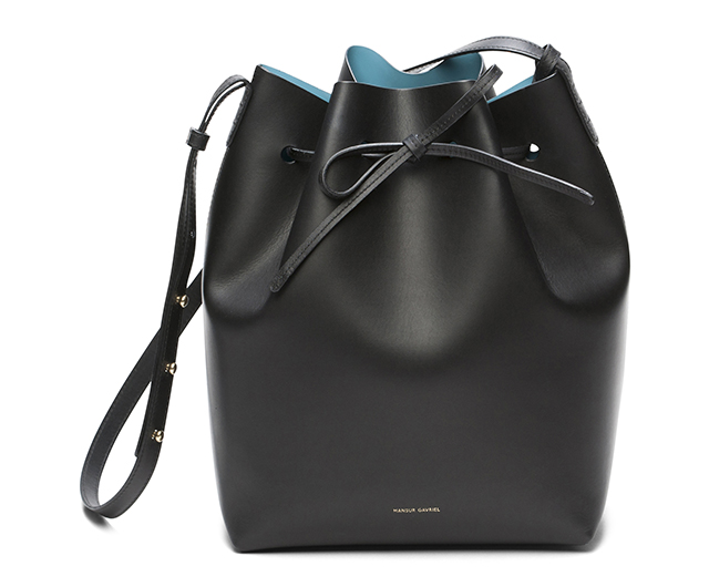 Mansur Gavriel Bucket Bag Black Marina