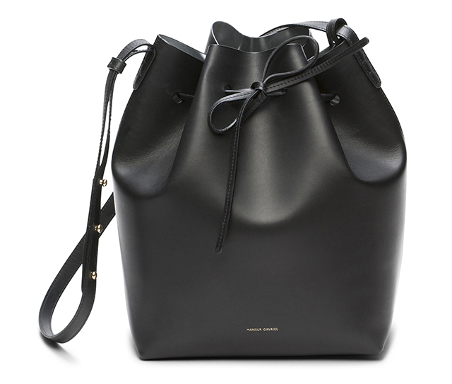 Mansur Gavriel Bucket Bag Black Silver