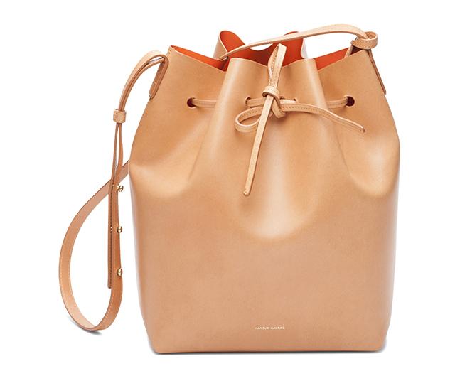 Mansur Gavriel Bucket Bag Cammello Orange
