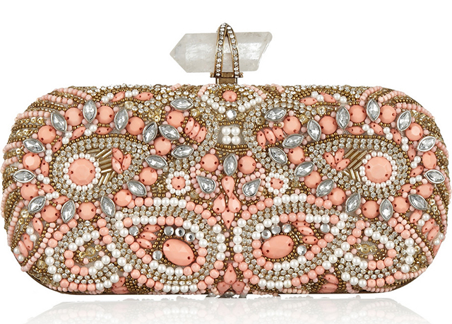 Marchesa Lily Embellished Clutch