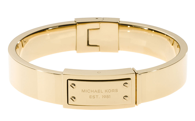 Michael Kors Logo Plaque Hinge Bangle
