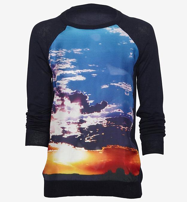 Minnie Rose Silk Panel Sweatshirt