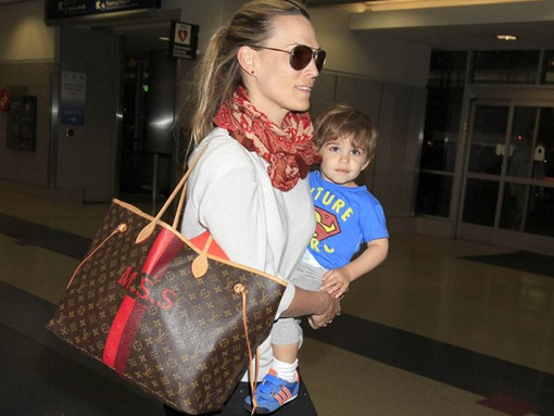 Molly Sims Louis Vuitton Mon Monogram Neverfull Tote