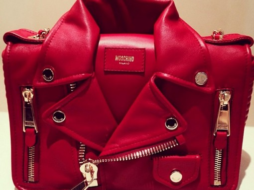 Moschino Leather Jacket Handbag