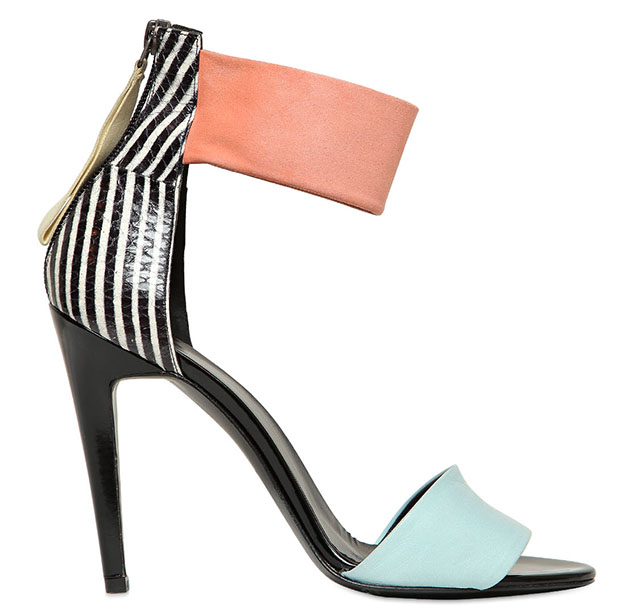 Pierre Hardy Elaphe and Suede Sandals