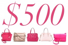 5 Under $500: Pink Bags