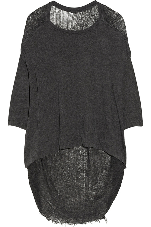 Raquel Allegra Shredded Jersey Top