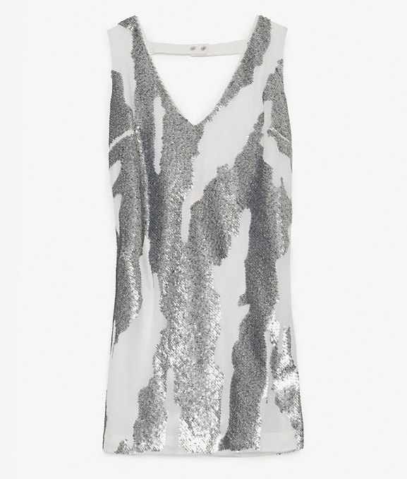 Robert Rodriguez Distressed Sequin Mini Dress