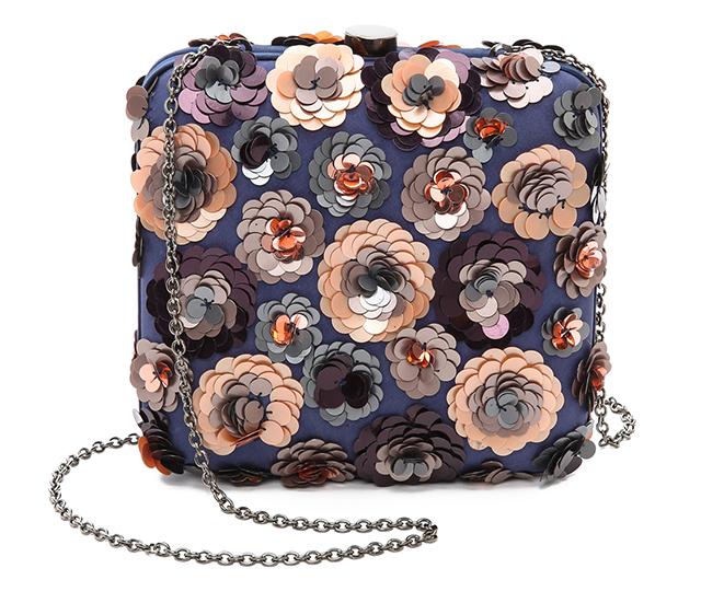 Santi Floral Sequin Clutch