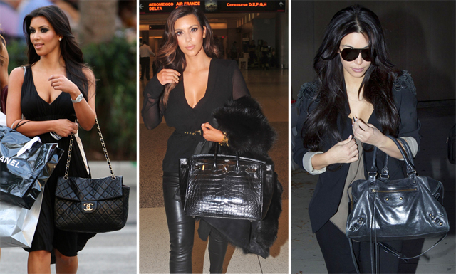 Bags Of Kim Kardashian Celebrities