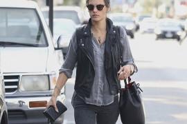 Alessandra Ambrosio Totes a Mansur Gavriel Bucket Bag