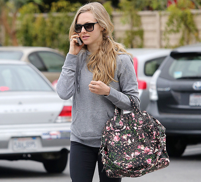 Amanda Seyfried Givenchy Floral Nightingale Bag