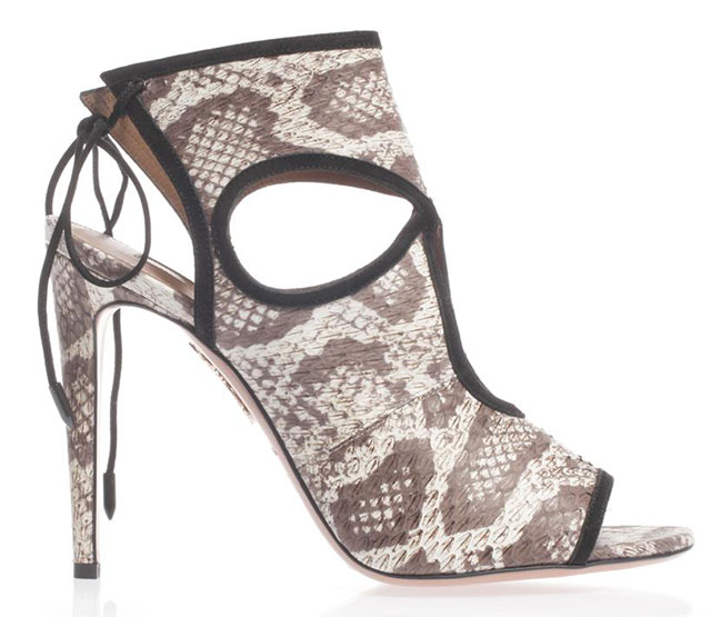Aquazzura Sexy Thing Elaphe Snakeskin Sandals