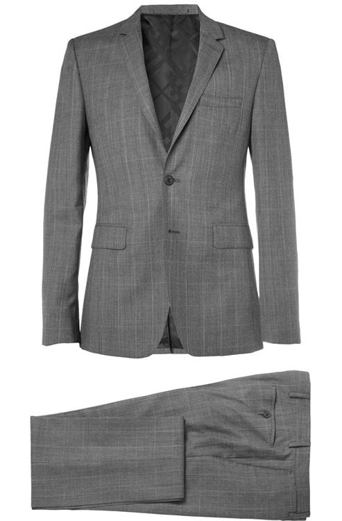 Burberry Prince of Wales Check Slim Fit Wool and Cashmere Suit