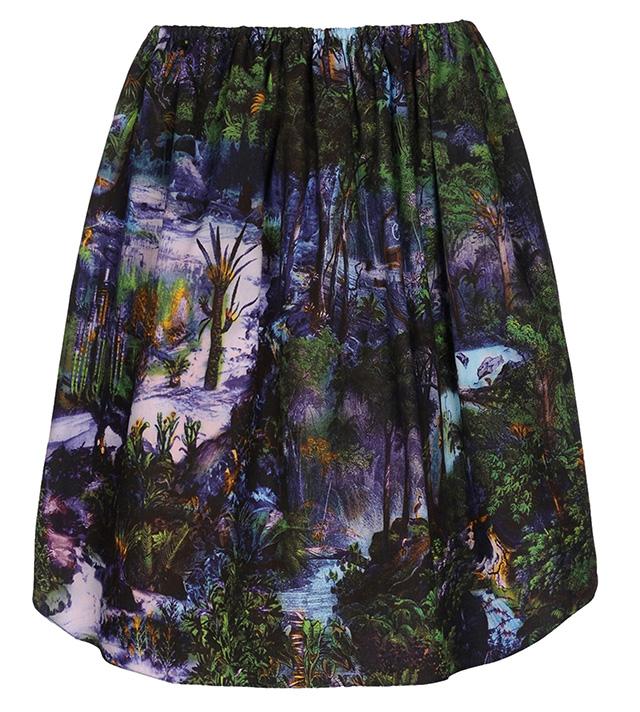 Carven Knee Length Printed Skirt