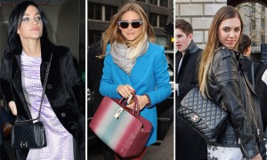 Celebrity Handbags London Fashion Week Fall 2014
