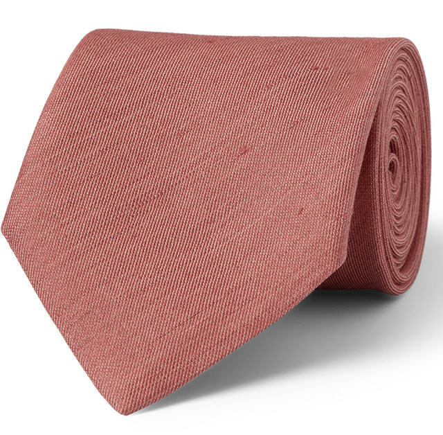 Charvet Silk and Linen Blend Tie