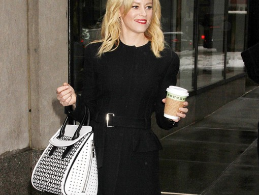 Elizabeth Banks Carries Alexander McQueen to the Today Show