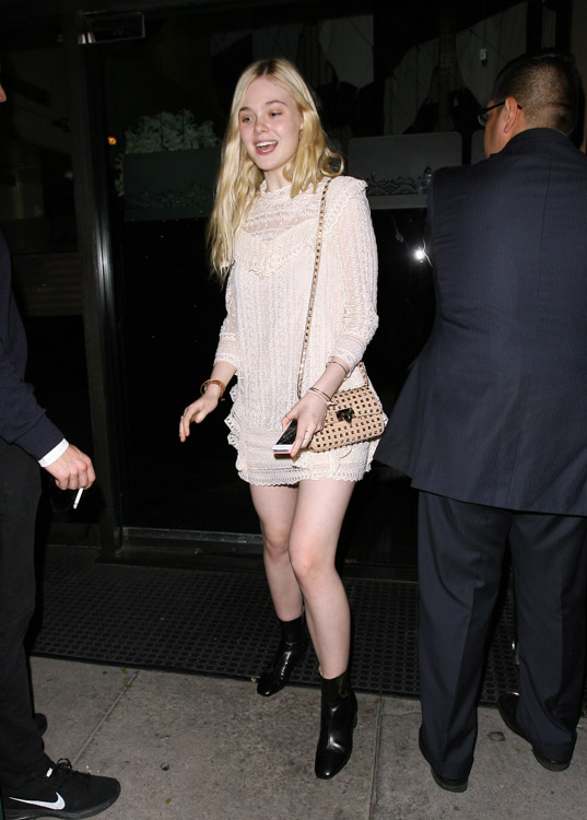 Elle Fanning Valentino Rockstud Mini Crossbody Bag-1
