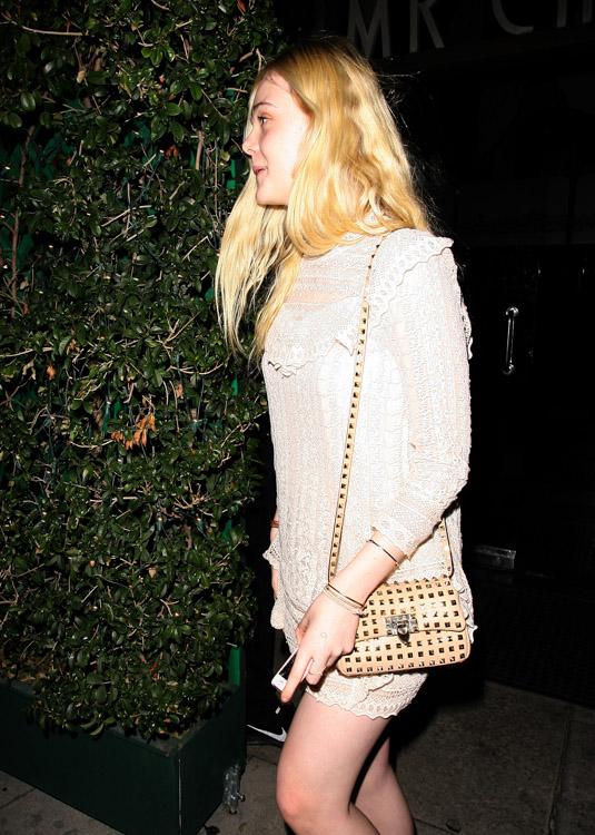 Elle Fanning Valentino Rockstud Mini Crossbody Bag-3