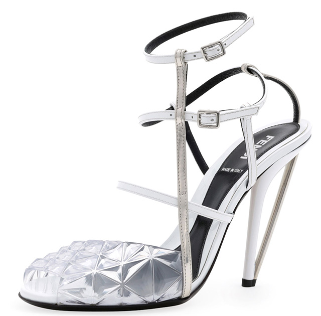 Fendi Molded PVC Leather Sandals