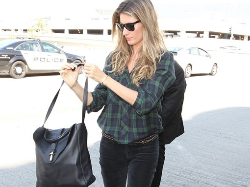 Gisele Bundchen Carries Balenciaga to the Airport