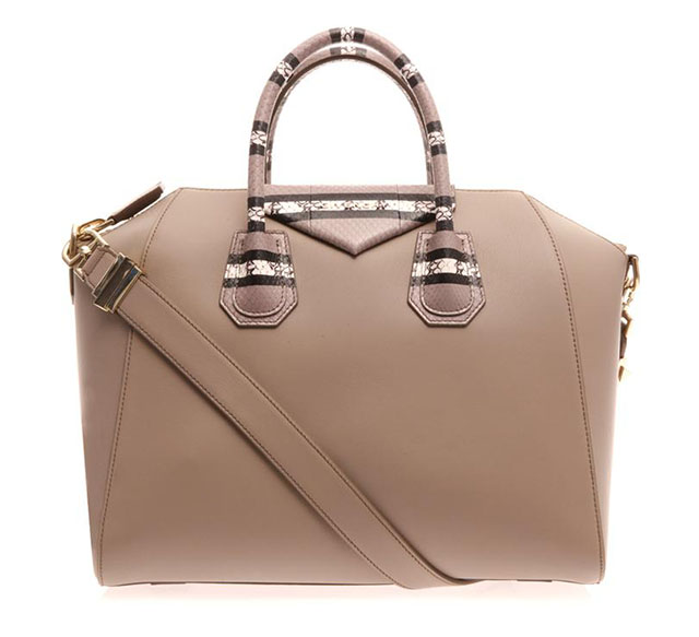 Givenchy Antigona Leather and Snakeskin Tote