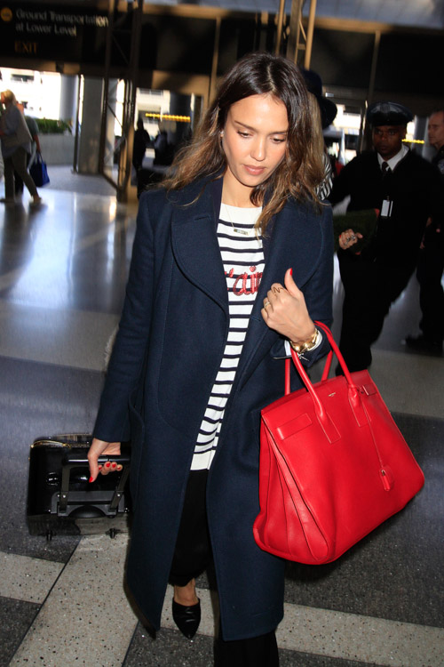 Jessica Alba Saint Laurent Sac de Jour Bag-1